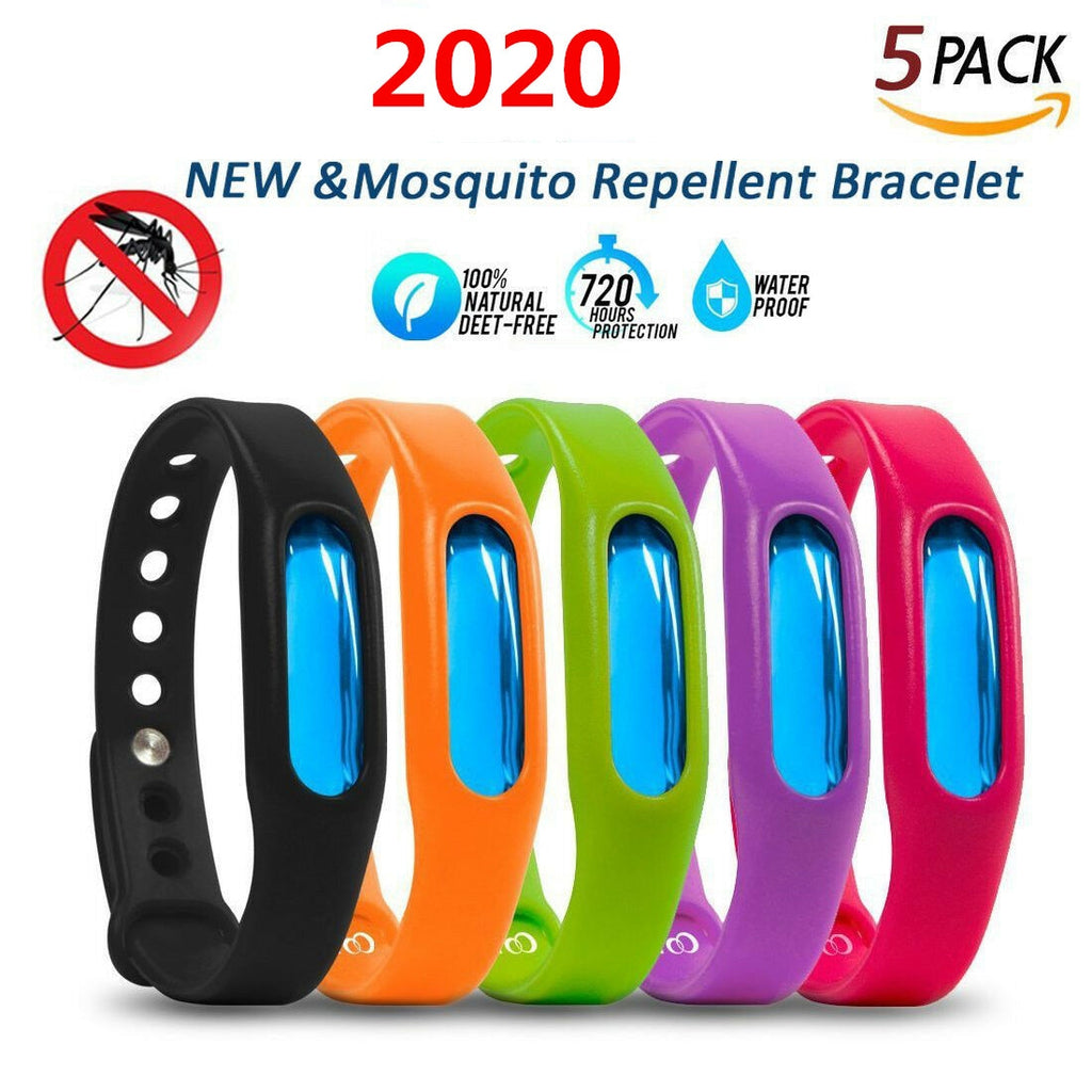 5Pcs/lot Silicone Mosquito Killer Wristband For Kids Adult Capsule Pest Insect Bugs Trap Mosquito Repellent Bracelet Repeller - Smoulder Products