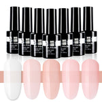 Beautilux 1pc Rubber Base Camouflage French Manicure Nail Gel Polish Pink Milky White Base Coat UV Gel Nails Art Design 10ml - Smoulder Products