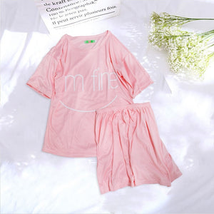Women Pajamas Set Summer Cute Strawberry Short Sleepwear Girls Comfortable Home Clothes - Smoulder Products