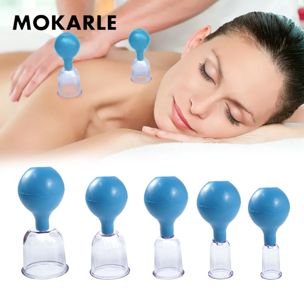 Rubber Vacuum Cupping Glasses Chineses Cupping Massage Body Cups Anti Cellulite Cupping Massage Vacuum Therapy Massage Tool - Smoulder Products