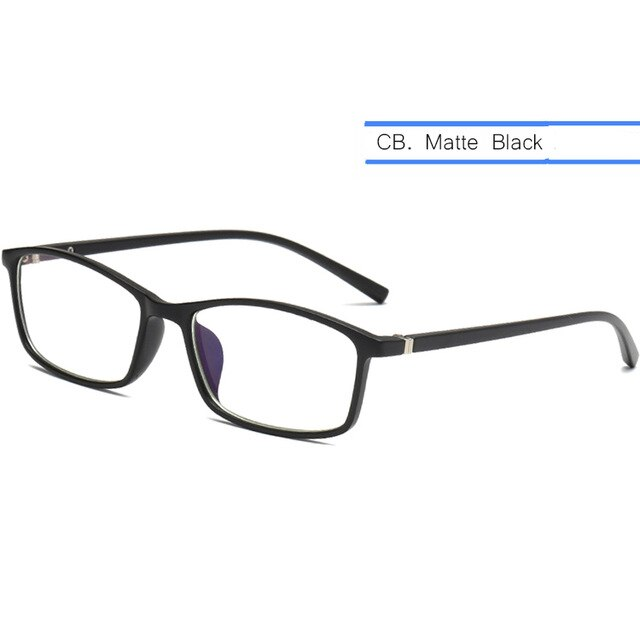 IVSTA Computer Glasses Anti Blue Light Blocking Myopia Glasses Men Prescription Spectacle Frame TR Square Business Men Nerd Rays - Smoulder Products