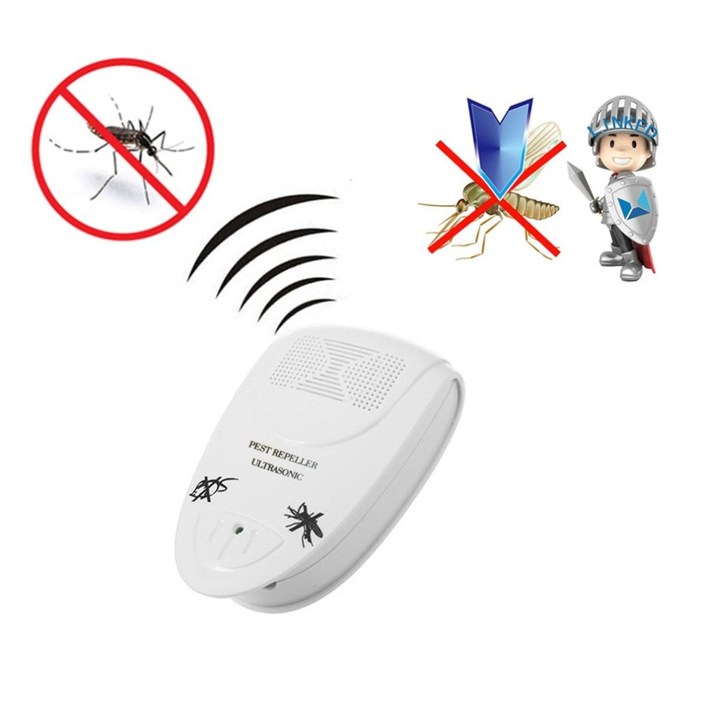 2 Pcs/Lot Ultrasonic Pest Killer Reject Electrical Mosquito Repeller Pest Control Cockroach Bug Spiders Rats Fly Trap Repeller - Smoulder Products