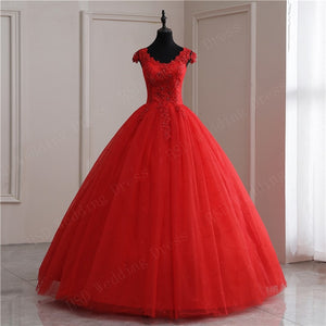 Red White Applique V Neck 2020 Sweet Princess Wedding Dress Strapless Plus Size Wedding Gowns Retro Lotus Bridal Dress - Smoulder Products