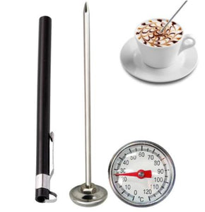 1PCs Stainless Steel Probe Thermometer Instant Read Kitchen Food Cooking Milk Coffee Meat BBQ Safely Household Thermometers - Smoulder Products