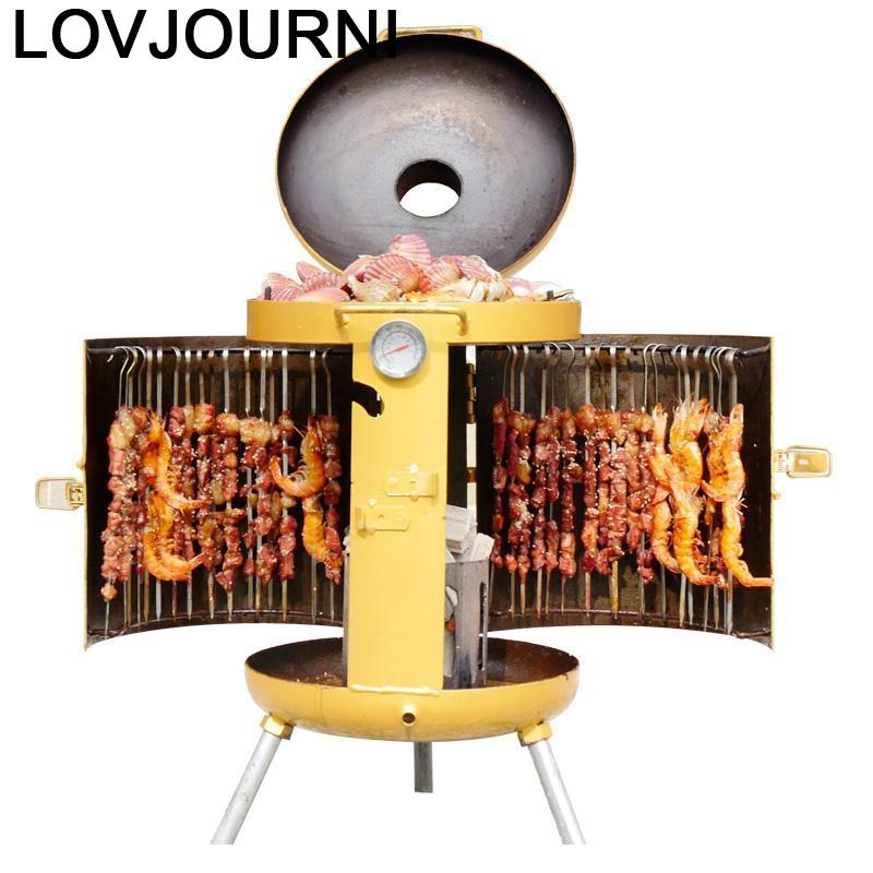 Barbeque Kebab Machine Portable Camping Kitchen Carbon Charcoal Grill for Outdoor Churrasqueira Barbacoa Churrasco Barbecue - Smoulder Products