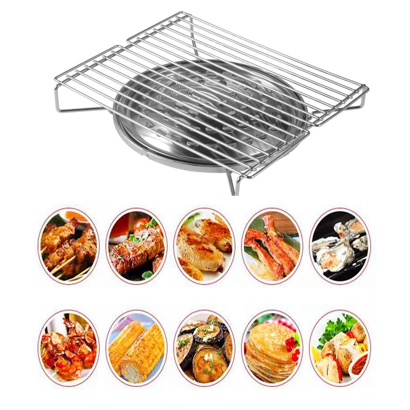 Portable Gas Grill Table Top Portable Gas Barbeque BBQ Food Rack Cooker Stove Grill Picnic Beach Camping BBQ Grill - Smoulder Products