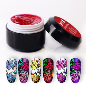 Beautilux 1pc Gel Paste No Sticky Layer No Spread Nail Art 3D Carving Soak Off UV LED Nails Gel Polish For Nail Design Artist 6g - Smoulder Products