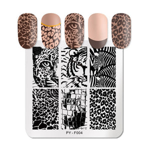 PICT You Nail Stamping Plates French Tip Pictures Nail Art Stamping Template Stainless Steel Nail Design Stencil Tools - Smoulder Products