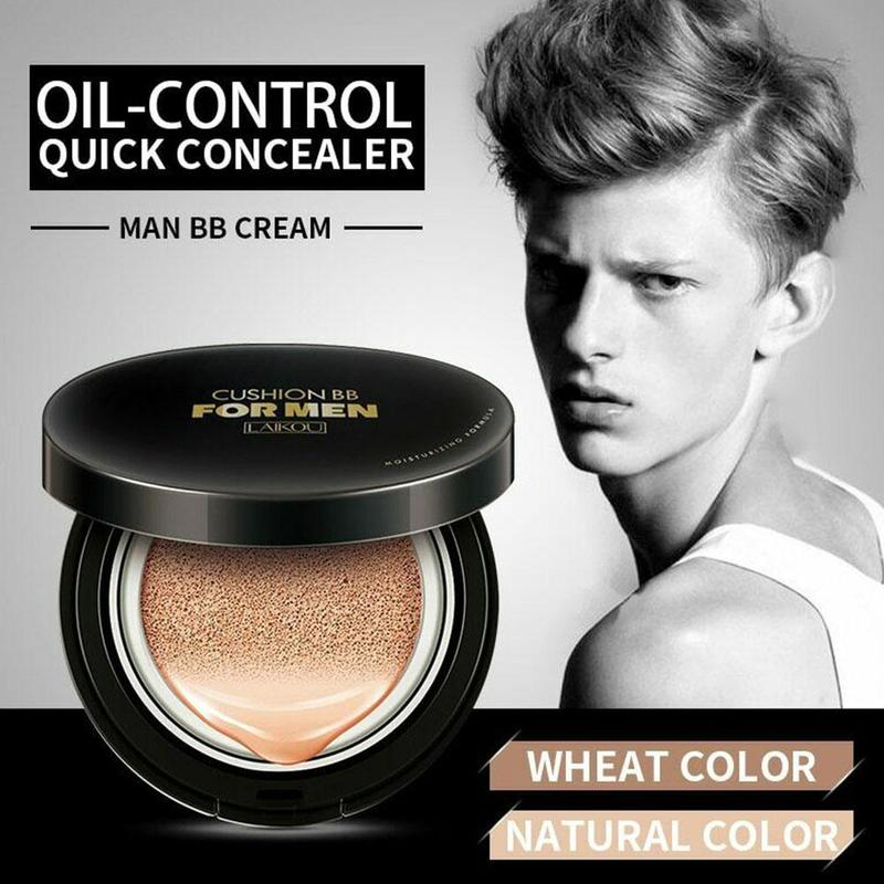 Sunscreen Air Cushion BB Cream Men Use Replacement Concealer Moisturizing Foundation Whitening Makeup Bare Face Beauty Makeup - Smoulder Products