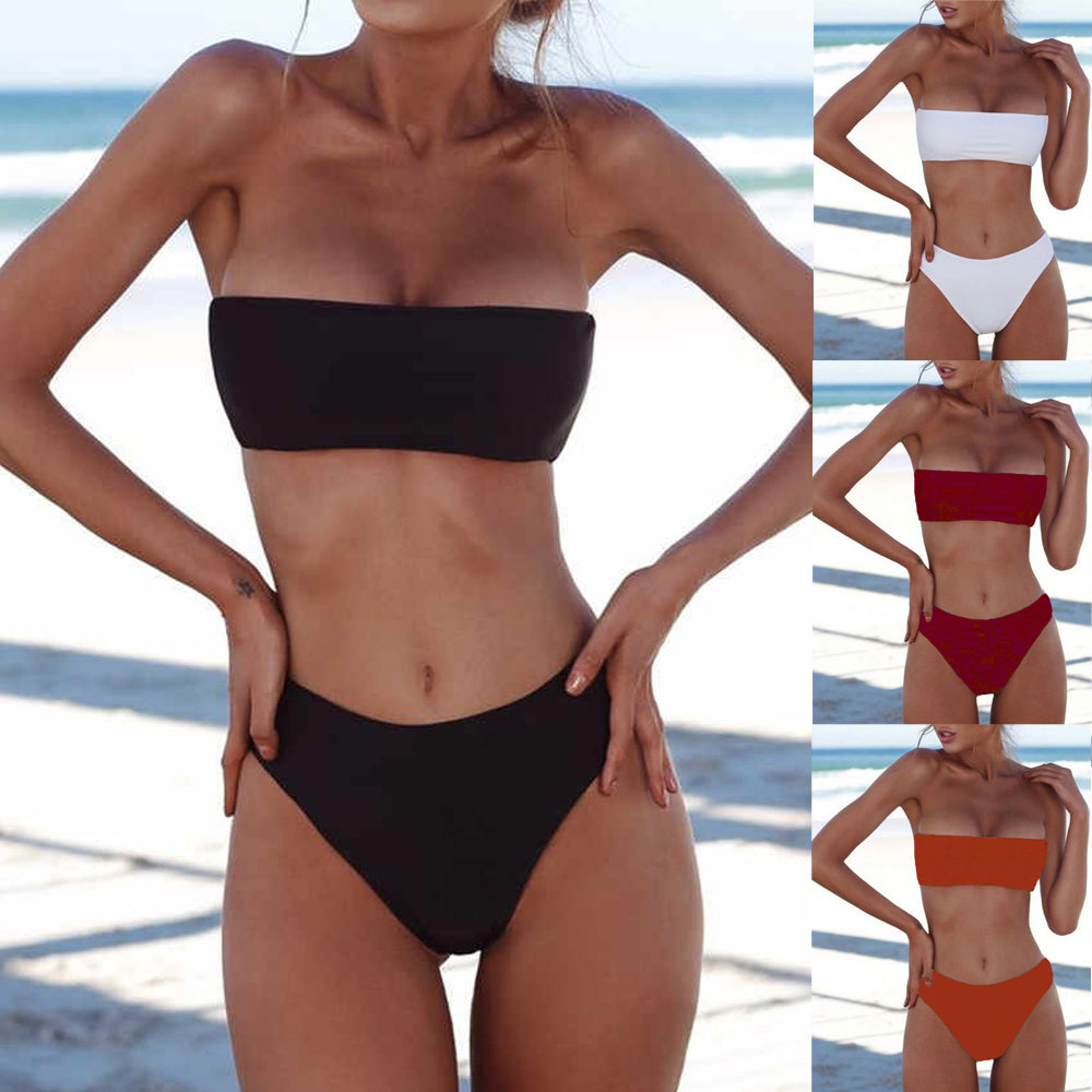 2019 New Summer Women's Padded Sexy Ladie Push-up Bra Bikini two- piece Set Swimsuit Swimwear Beachwear Bathing Suit - Smoulder Products