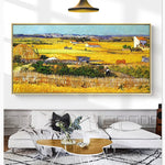 Arles Harvest Season Van Gogh Handmade Painting Reproductions Handpainted Oil Painting Abstract For Bedroom Wall Decor Unframed - Smoulder Products