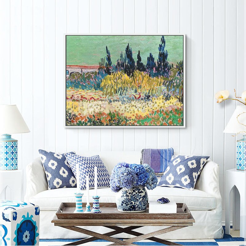 Van Gogh Landscape Paintings Reproductions Wall Decoraction For Living Room Van Gogh Tree Paintings Handmade Abstract Unframed - Smoulder Products