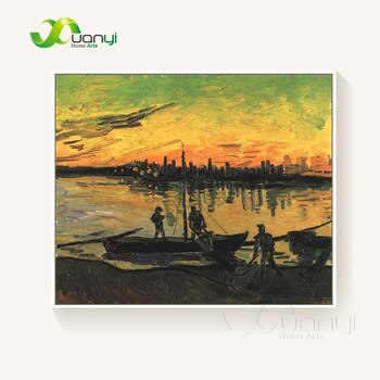 Van Gogh Fishing Boat Oil Painting Reproductions Handmade On Canvas Home Decoraction Picture For Kitchen Wall Picture Unframed - Smoulder Products