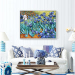 Van Gogh Irises Painting Reproductions Handpainted Flower Oil Painting Wall Picture For Living Room Home Decoraction Unframed - Smoulder Products