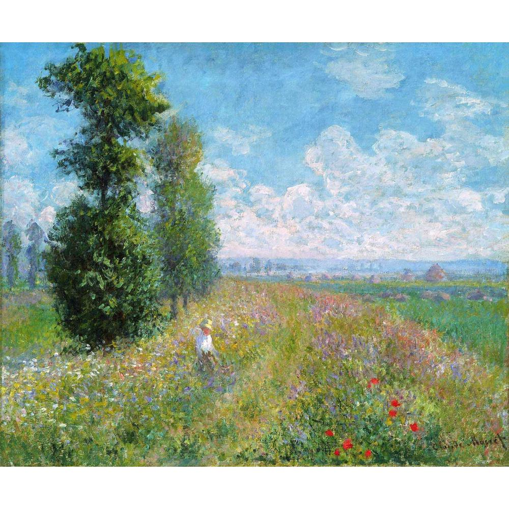 Meadow with Poplars by Claude Monet Oil paintings reproduction Landscapes art hand-painted home decor - Smoulder Products