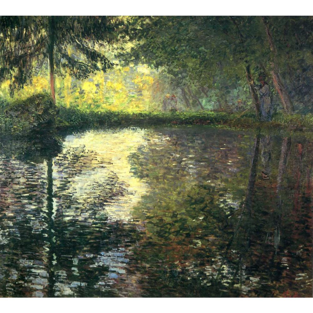 The Pond at Montgeron of Claude Monet art oil paintings Canvas reproduction hand-painted - Smoulder Products