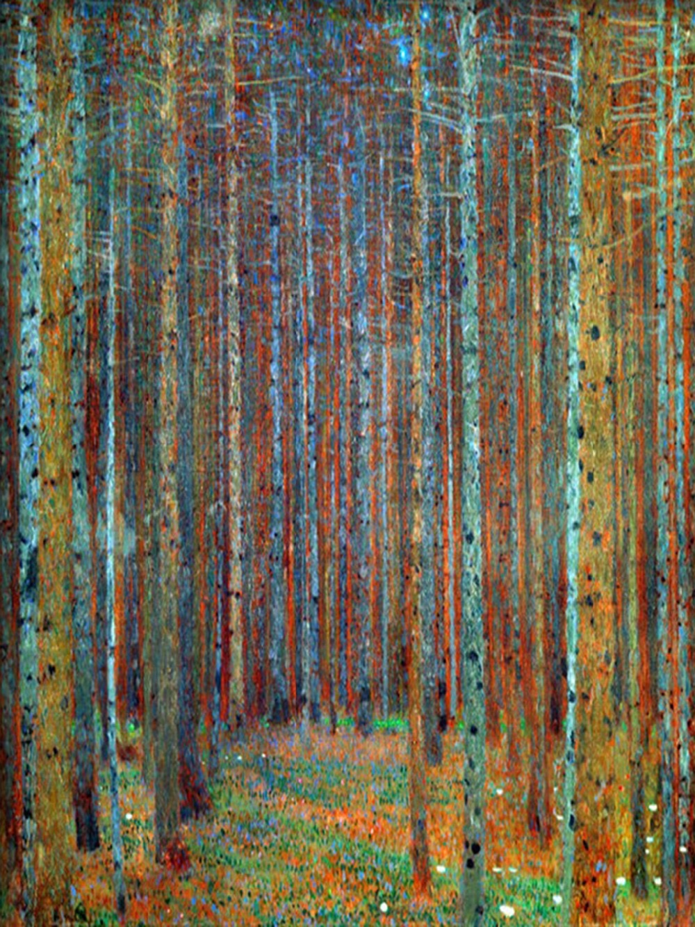 High quality Gustav Klimt Canvas Oil paintings Trees TANNENWALD PINE FOREST painting reproduction 100%hand painted - Smoulder Products