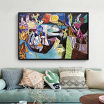 Famous Paintings Picasso Oil Painting Reproduction Abstract Human Fine Art Canvas Wall Art Picture Wall Decor Large For Bedroom - Smoulder Products