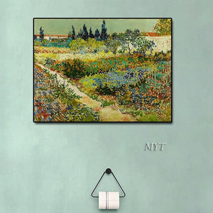 Hand-painted Van Gogh Famous Antique Reproduction Landscape Oil Painting Art Grate Wall Canvas Oil Paintings Artwork No Frame - Smoulder Products
