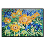 Van Gogh's Oil Painting Reproduction 100% Hand-painted Famous Master Sunflower Oil Paintings Wall Canvas Art For Bedroom Decor - Smoulder Products