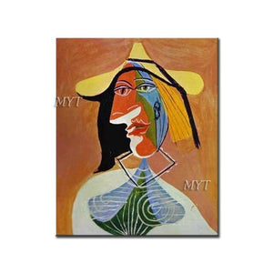Picasso Abstract Human Face Oil Painting Reproduction 100% Handmade Fine Paintings Art Canvas Wall Art Picture Home Decoration - Smoulder Products