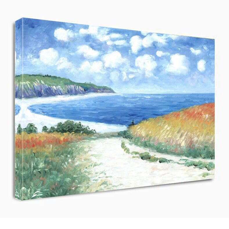 Path Through The Corn at Pourville by Claude Monet Oil Paintings on Canvas Wall Art  Hand Painted Famous Painting Reproduction - Smoulder Products