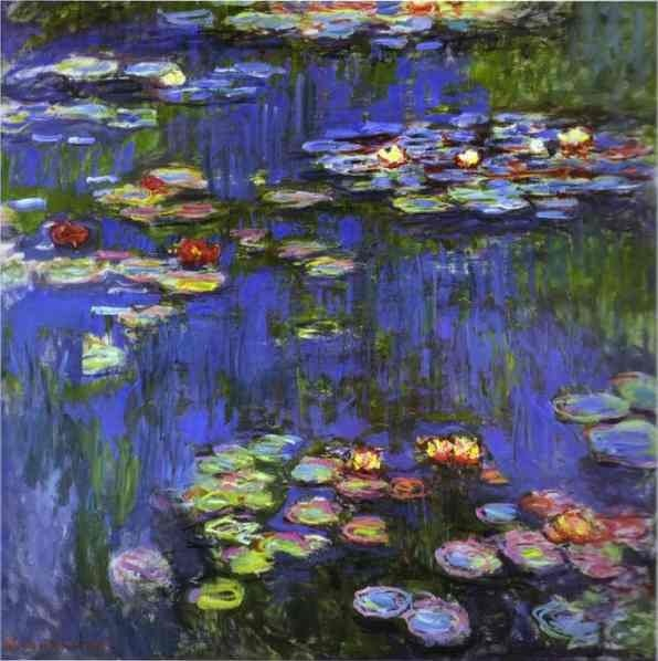 Hand Painted Claude Monet Water Lilies Pond Claude Monet Canvas Painting Wall Art Reproduction For Home Decotations - Smoulder Products