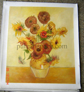 Hand Painted Vase with Fifteen Sunflowers Oil Painting Reproduction Vincent Van Gogh Canvas Wall Art for Home Decor  Drop ship - Smoulder Products