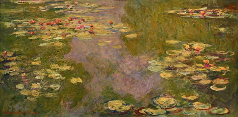 Claude Monet Water Lily paintings reproduction for home decoration,50*60cm - Smoulder Products