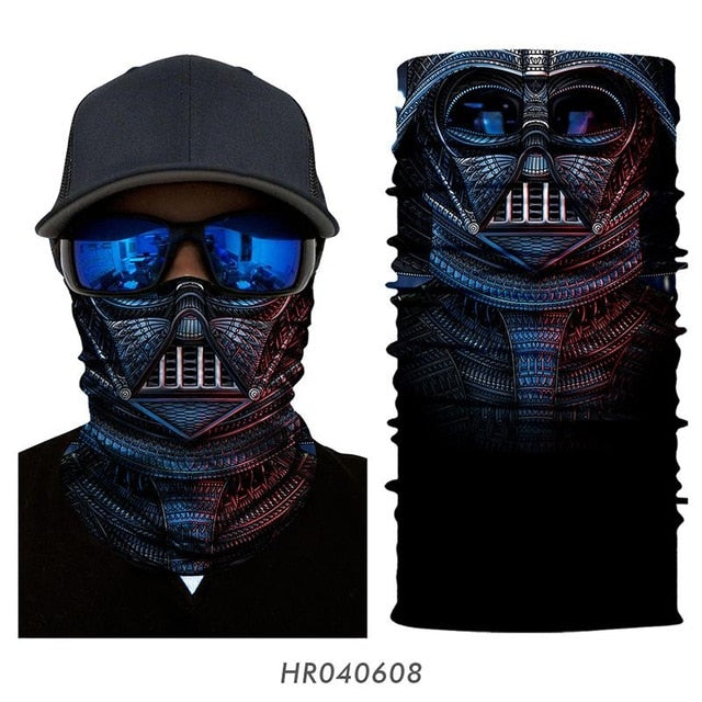 3D Seamless Bandana Motorcycle Ski Masks Face Shield Superhero Balaclava Neck Tube Outdoors Cycling Magic Bandanas Sports Scarf - Smoulder Products