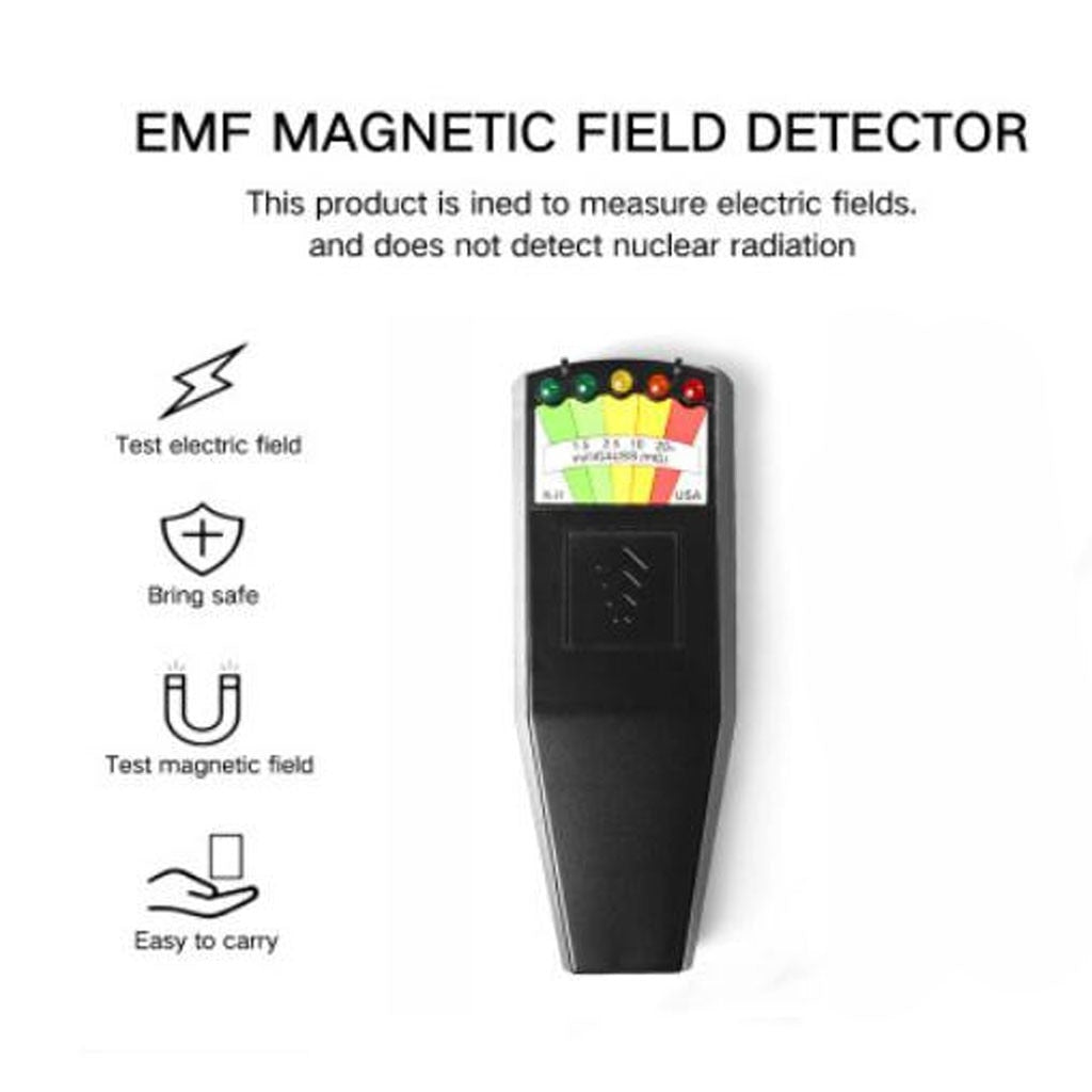Digital Field Radiation Tester Sound Light Radiated Electromagnetic Pen Electric Magnetic Field Frequency Tester Detector @B17 - Smoulder Products