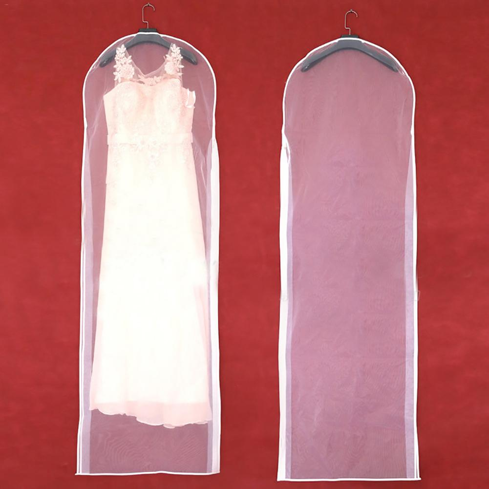 Wedding Dress Bag Clothes Cover Dust Cover Garment Bags Crystal Yarn Bridal Garment Storage Bag Long Clothes Protector Case - Smoulder Products