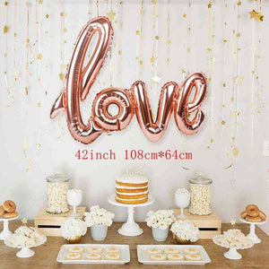 2pcs Bride and Groom Wedding Decor Bridal Dress Foil Heart Balloons Wedding Mr & Mrs Aluminum Ballon Engagement Party Decoration - Smoulder Products