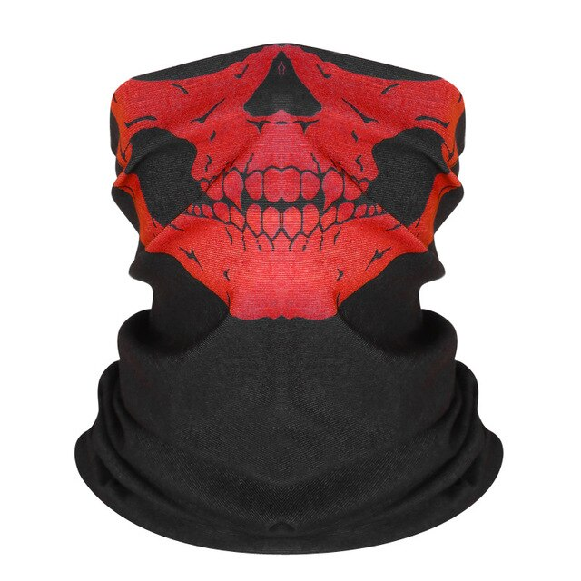 2020 Halloween Skull Party Scarves Masquerade Mardi Gras Black Neck Scary Motorcycle Multi Function Headwear Neckwear - Smoulder Products