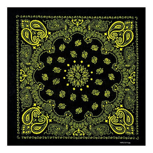Ethnic Colored Sunflower Double Paisley Floral Unisex Cotton Square Scarf Motorcycle Headband Bandana Hip-Hop Wristband Neck Tie - Smoulder Products