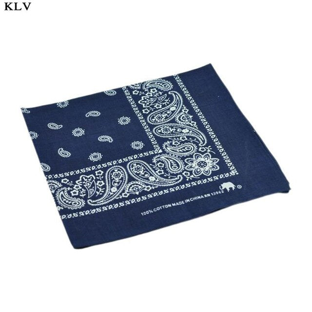54x54cm Bright Colorful Unisex Cotton Bandana Headwrap Hip Hop Dance Sport Scarf Paisley Floral Print Motorcycle Scarf Wristband - Smoulder Products