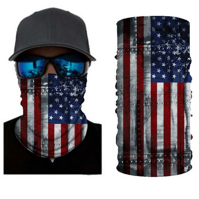 Unisex Camouflage Skull National Flag Magic Scarf Cycling Seamless Balaclava Head Scarves Headband Neck Face Warmer Motorcycle - Smoulder Products