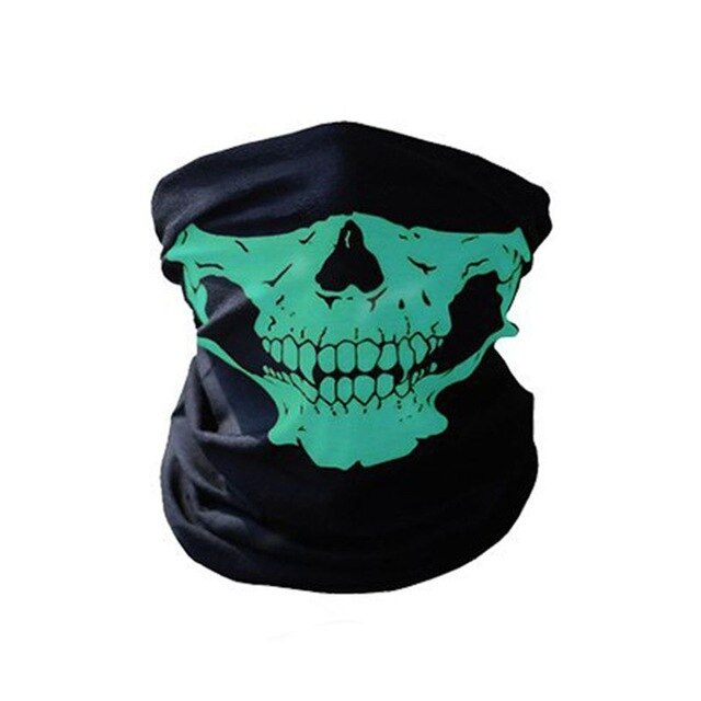 Unisex Outdoor Mask Skull Skeleton Headwear Hat Neck Ghost Scarf Outdoor Motorcycle Bicycle Half Face Mask Cap - Smoulder Products