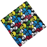 Gradient Colorful Halloween Skull Head Unisex Cotton Pocket Square Scarf Motorcycle Headband Bandana Hip-Hop Wristband Neck Tie - Smoulder Products