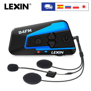 Brand Lexin LX-B4FM for 4 Riders Intercom Motorcycle Bluetooth Helmet Headsets BT moto intercomunicador with FM radio - Smoulder Products