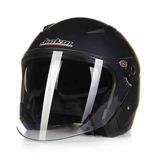 JIEKAI 512 Motorcycle Helmet Open Face Capacete Moto Racing Goggles Motorcycle Vintage Riding Half Helmets with Dual Lens - Smoulder Products