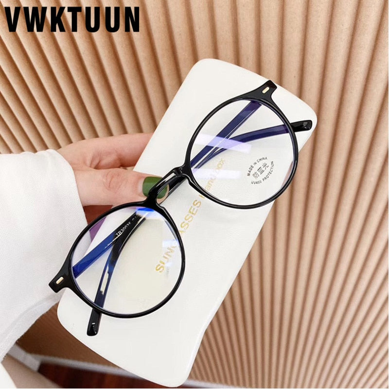 VWKTUUN Anti Blue Light Glasses TR90 Glasses Frame Round Eye glasses Frames For Women Men Reading Blue Light Blocking Glasses - Smoulder Products