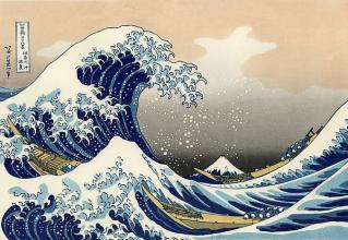 The Great Wave Famous Japanese painting wall decor handpainted oil painting Reproduction top quality - Smoulder Products