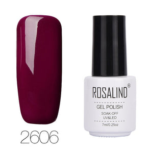 Rosalind Brand Wine Classic Red Nail Art Gel Cosmetics for Women 7ml Soak Off LED Red Series UV Nail Gel Polish Lot - Smoulder Products