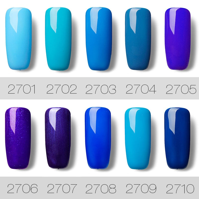 Rosalind 7ML Top Quality Blue Series Led UV Nail Polish Cosmetics Fast Dry UV Lacquer Gel Nail Polish Nail Art Decoration Gel - Smoulder Products