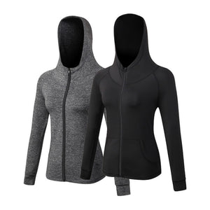 Yuerlian Yoga top Women Sports Hoodies Long sleeve Sweatshirt for Female Running Fitness Zipper Jacket with Hooded design jacket - Smoulder Products
