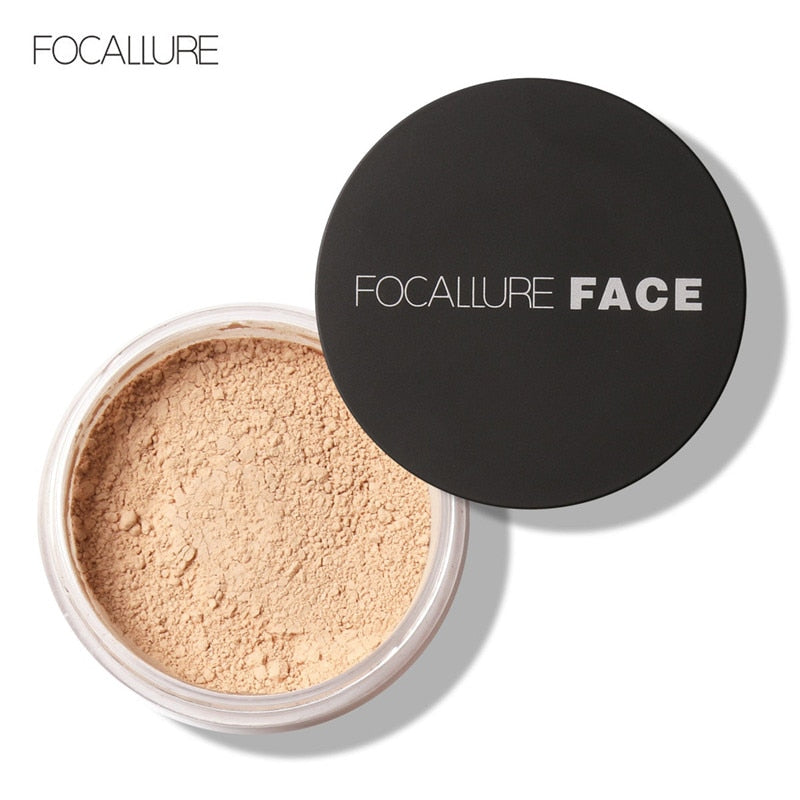 1PC Brand Focallure Powder Professional Makeup Loose Powder Matte Bare Face Long Lasting Whitening Skin Finish Transparent Powde - Smoulder Products