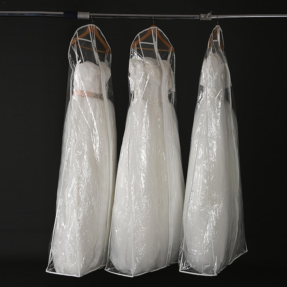 Wedding Dress Transparent Cover Storage Display Bags Dustproof Waterproof Moisture-proof Large Bridal Gown Garment 160/170/180CM - Smoulder Products
