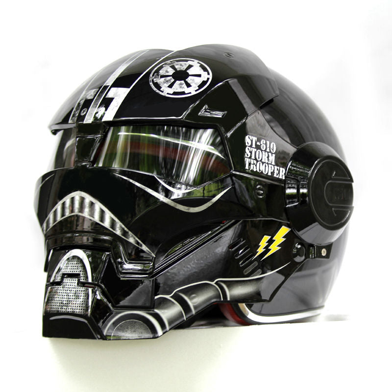 NEW Black Star Wars MASEI IRONMAN Iron Man helmet motorcycle helmet half open face helmet 610 ABS casque motocross - Smoulder Products