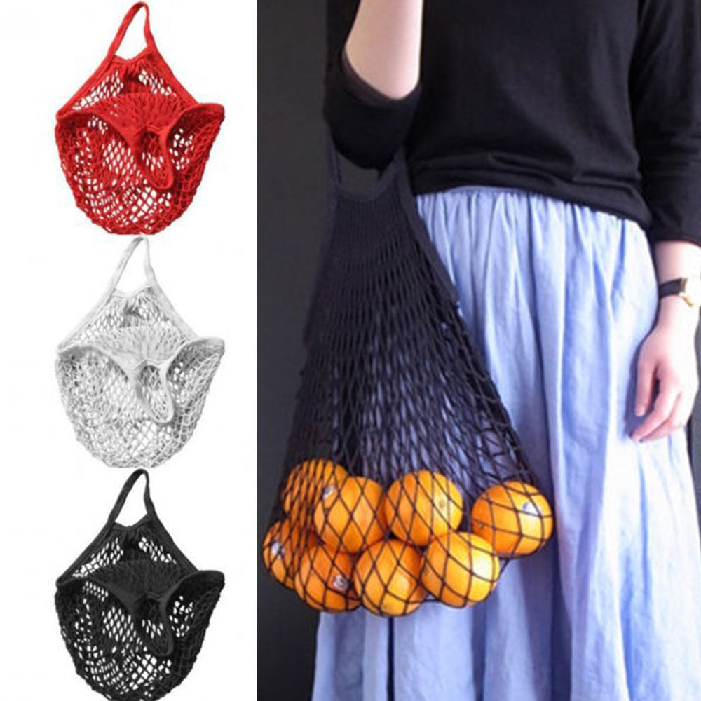 12Colors Brand NEW 1PC Reusable String Shopping Grocery Bag Shopper Tote Mesh Net Woven Cotton Bag Hand Totes Free Shipping - Smoulder Products